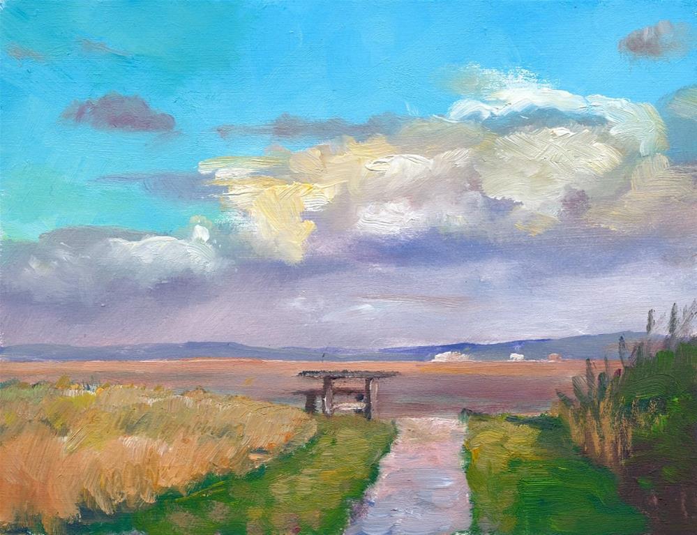 """Coastal Viewpoint"" original fine art by Christine Derrick"