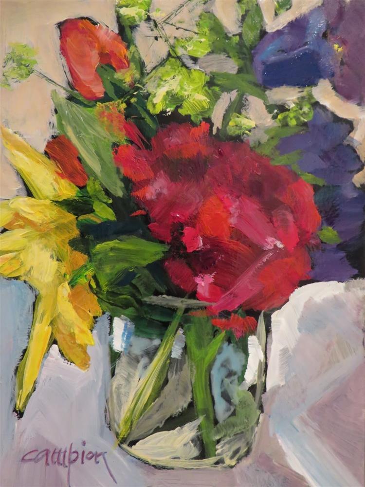 """""""642 Sweet William"""" original fine art by Diane Campion"""