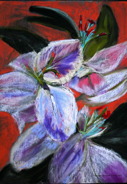 """Luck Ladies"" original fine art by Donna Crosby"