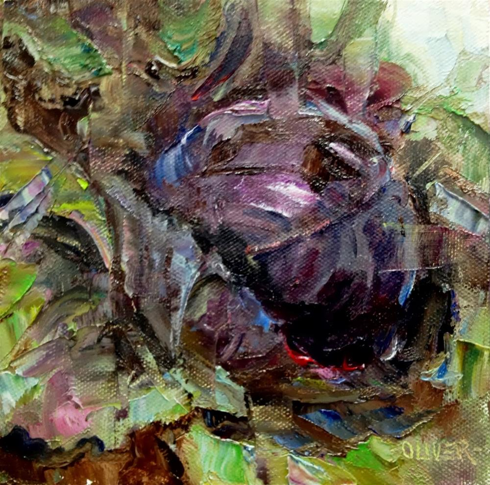 """Purple Cabbage study"" original fine art by Julie Ford Oliver"