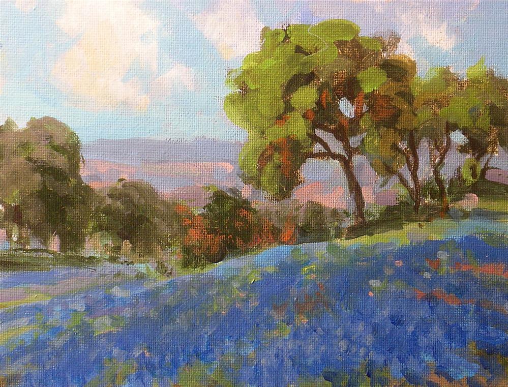 """""""Blue Hills"""" original fine art by David Forks"""