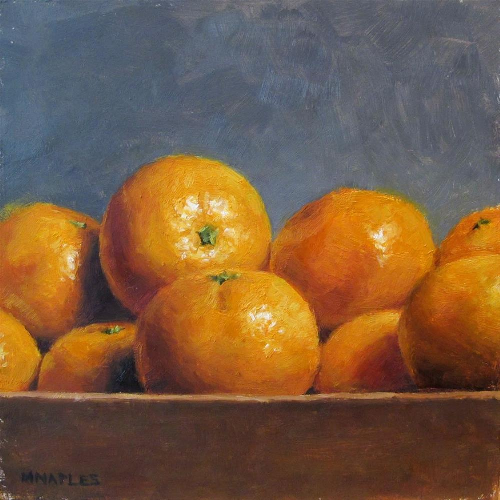 """Crate of Tangerines"" original fine art by Michael Naples"