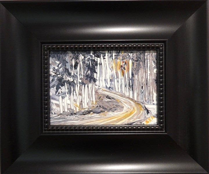 """2097 - Framed - Last Run - 2.5 Wide Black Frame"" original fine art by Sea Dean"