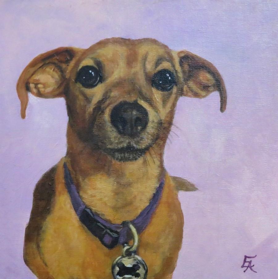 """Henry in His Yoga Pose"" original fine art by Elizabeth Elgin"