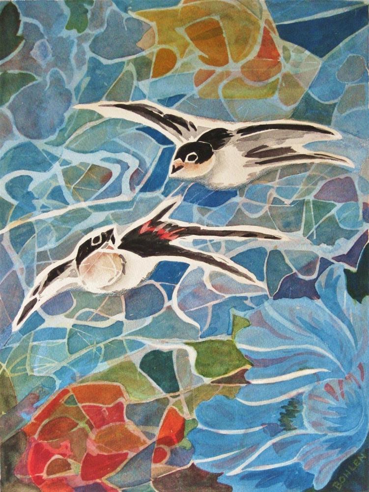 """Flying"" original fine art by Priscilla Bohlen"