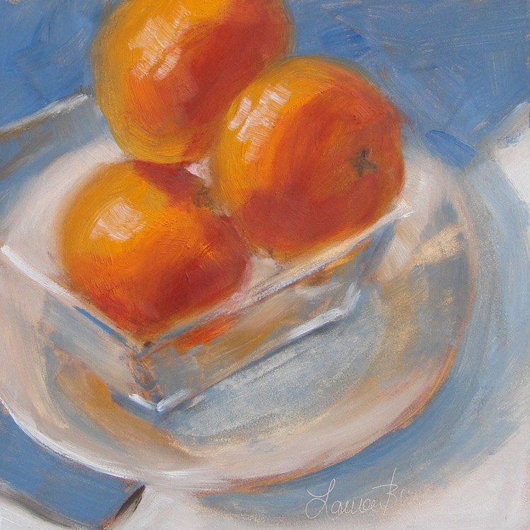 """Orange 459"" original fine art by Laura  Buxo"