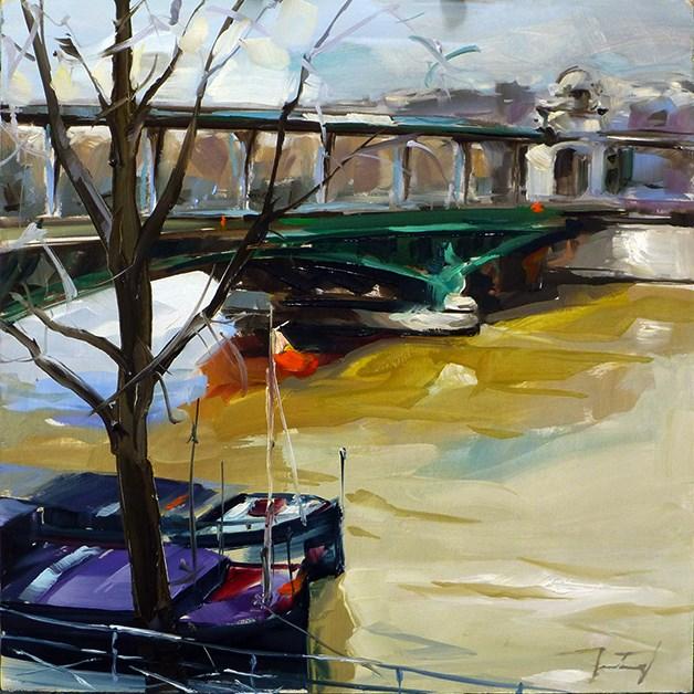 """""""Seine Im Herbst"""" original fine art by Jurij Frey"""