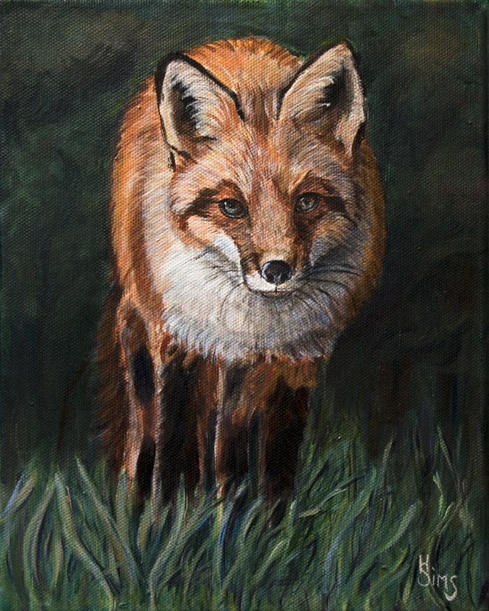 """The Fox"" original fine art by Heather Sims"