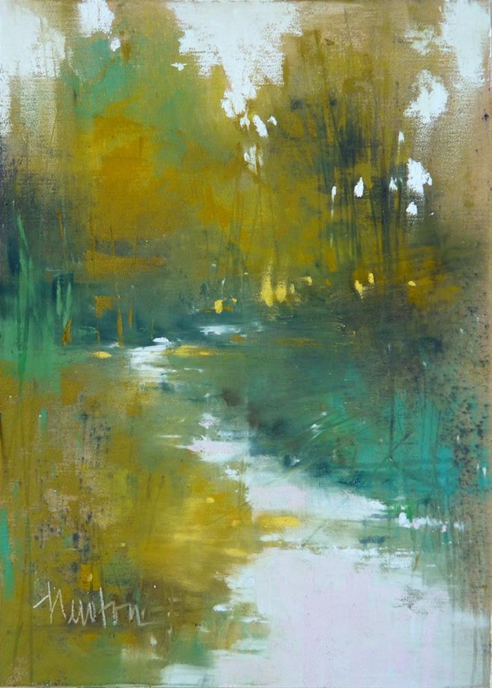 """Rock Creek Series: #1"" original fine art by Barbara Benedetti Newton"