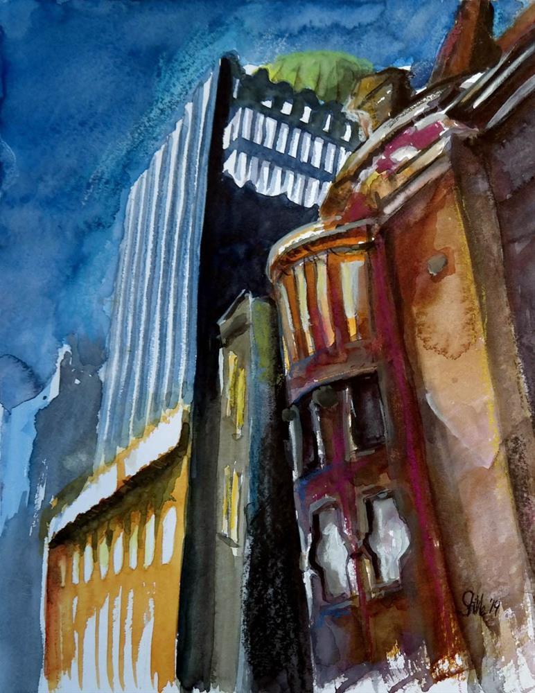 """1215 Gazette Skyscraper"" original fine art by Dietmar Stiller"