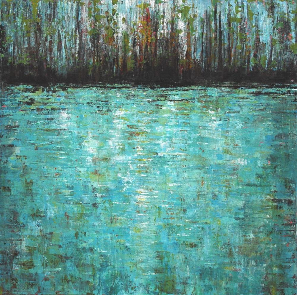 """""""Woodland Pond"""" original fine art by Sage Mountain"""