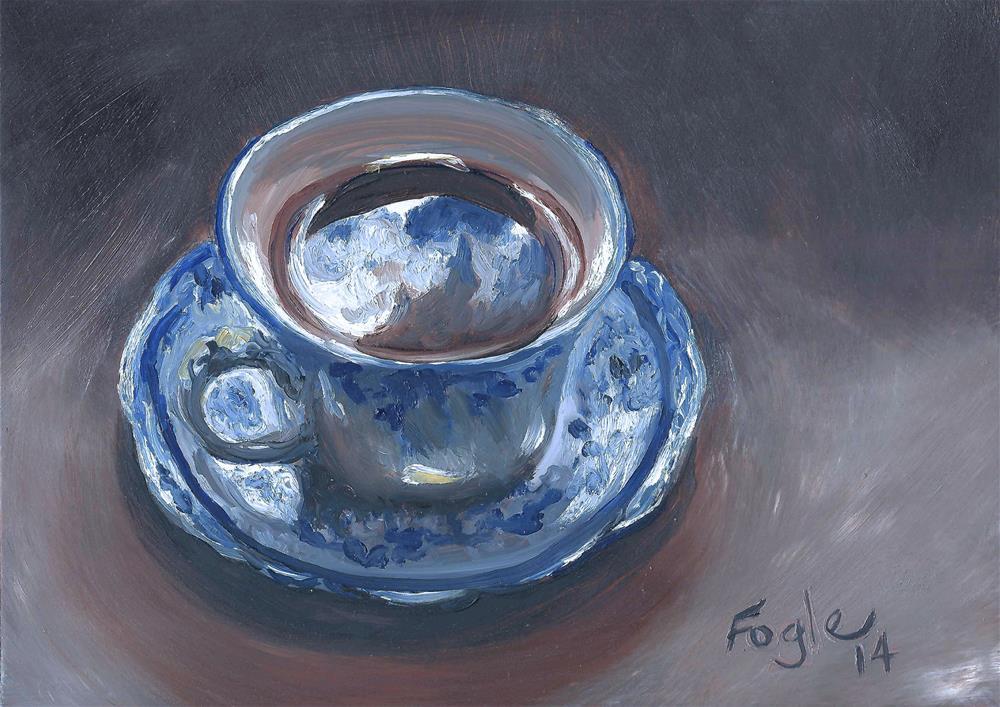 """""""Flowing Blue"""" original fine art by Rachel Fogle"""