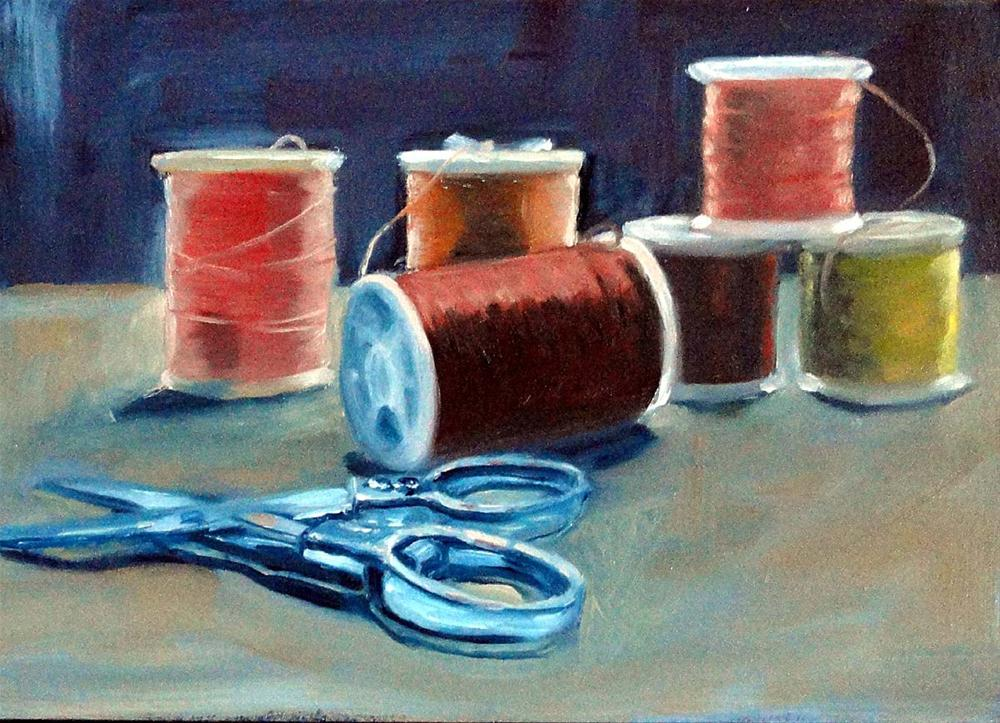 """Sew What?"" original fine art by Cietha Wilson"