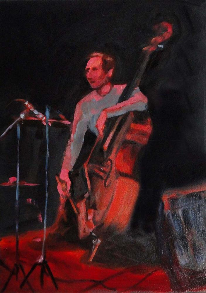 """Humboldt Time (The Bassist)"" original fine art by Cietha Wilson"