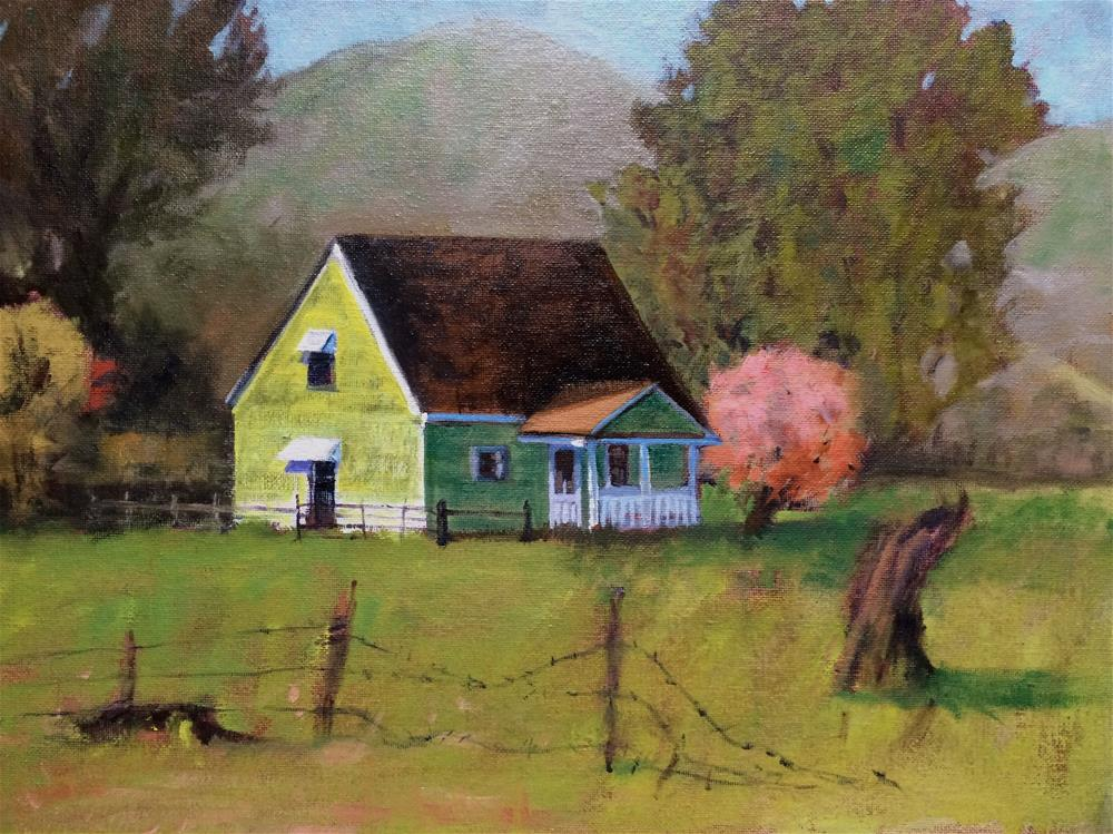"""The Old Thomas Ranch"" original fine art by John Tullis"
