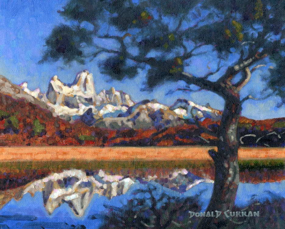 """Mountain Reflection"" original fine art by Donald Curran"