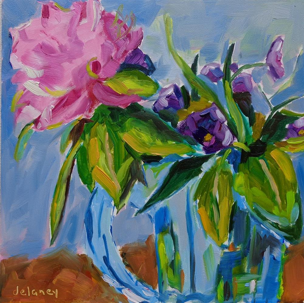 """FLOWERS FROM MY GARDEN"" original fine art by Jean Delaney"