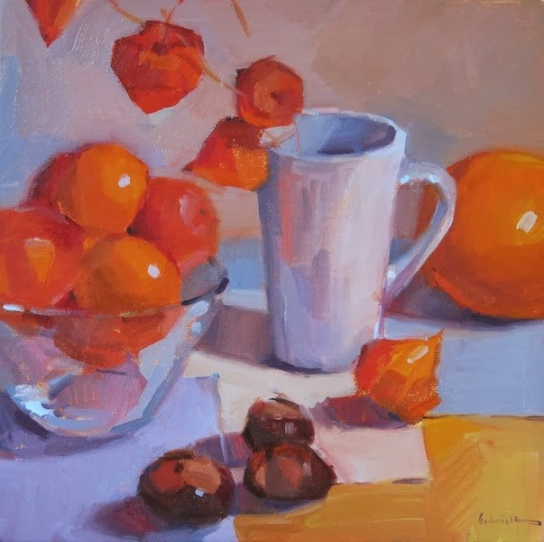 """All Kinds of Orange"" original fine art by Sarah Sedwick"