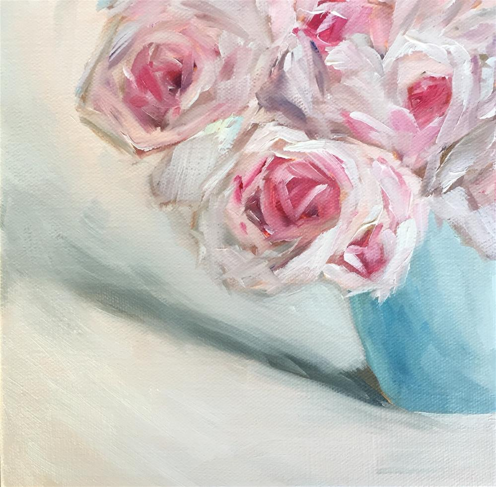 """Rose study:  4 of 10"" original fine art by Renee Robison"