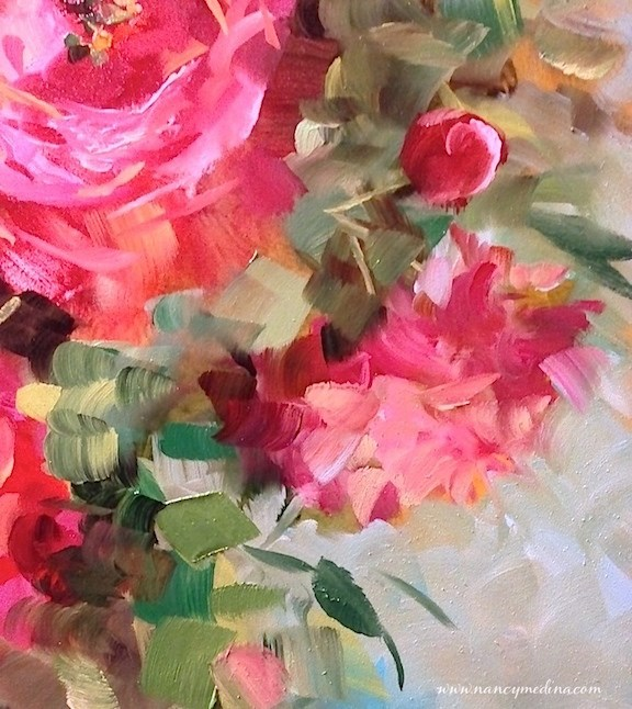 """The Wait Is Over - My New E-Course Is Here - Painting Brilliant Colors"" original fine art by Nancy Medina"