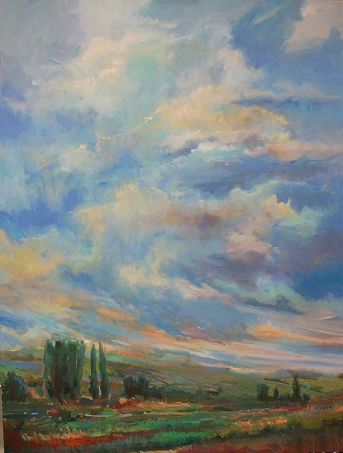 """Peaceful Valley"" original fine art by Mary Maxam"