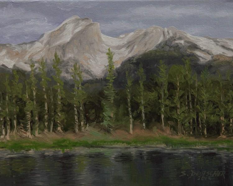 """""""Hallett Peak Colorado"""" original fine art by Sue Deutscher"""
