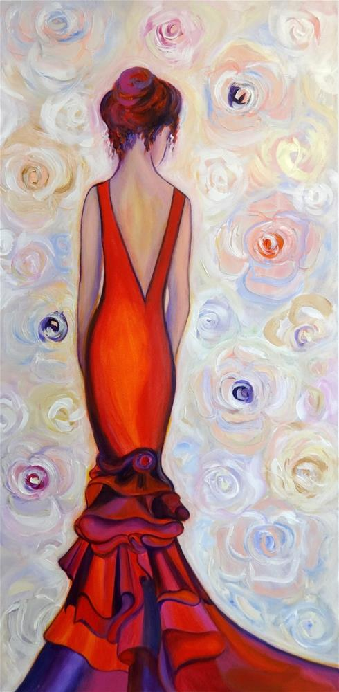 """5030 - La Vie en Rose II - Exhibition Size"" original fine art by Sea Dean"