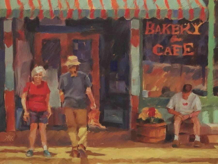 """Mancos Bakery"" original fine art by Deborah Ann Kirkeeide"