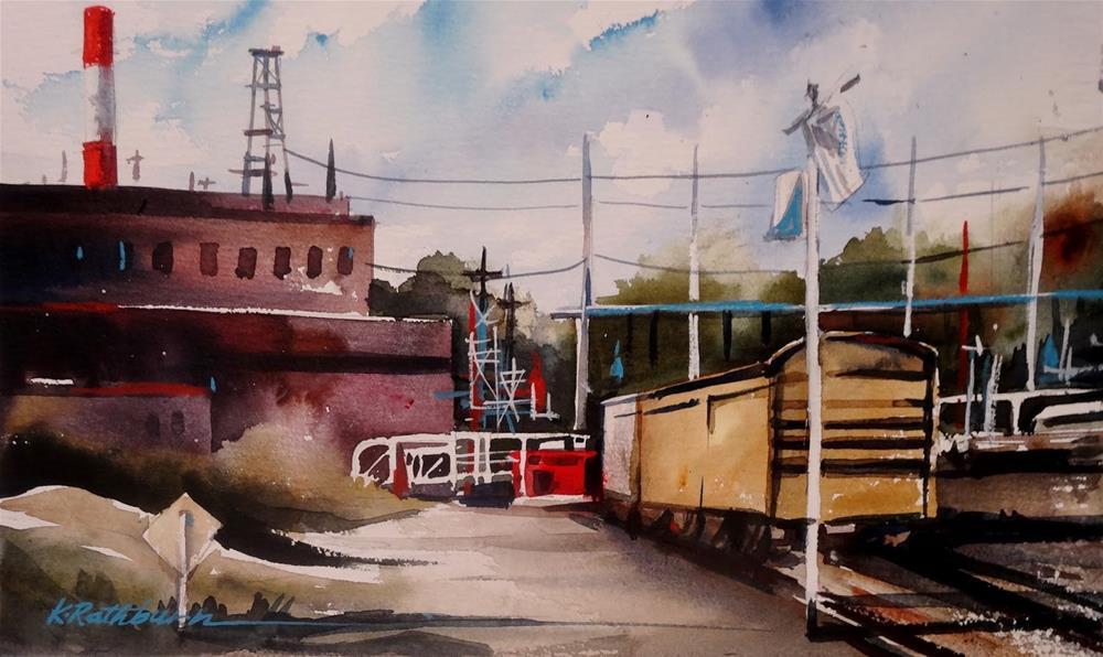 """Insights on Industry X"" original fine art by Kathy Los-Rathburn"