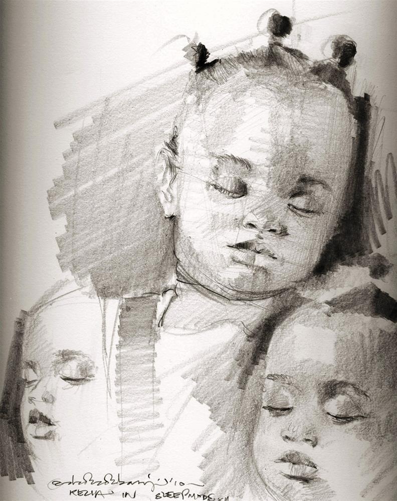 """3 graces II"" original fine art by Adebanji Alade"