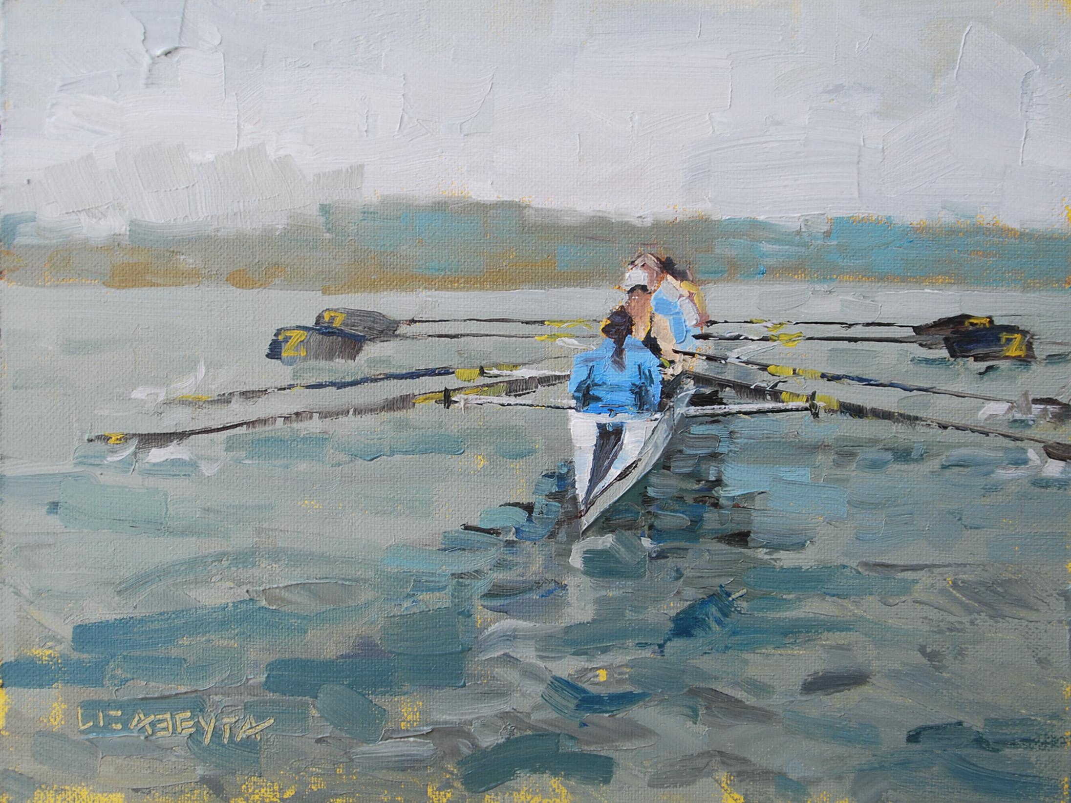 """""""On the Water"""" original fine art by Liz Abeyta"""