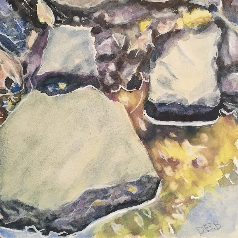 """Rocks Study"" original fine art by Debbie Yacenda"