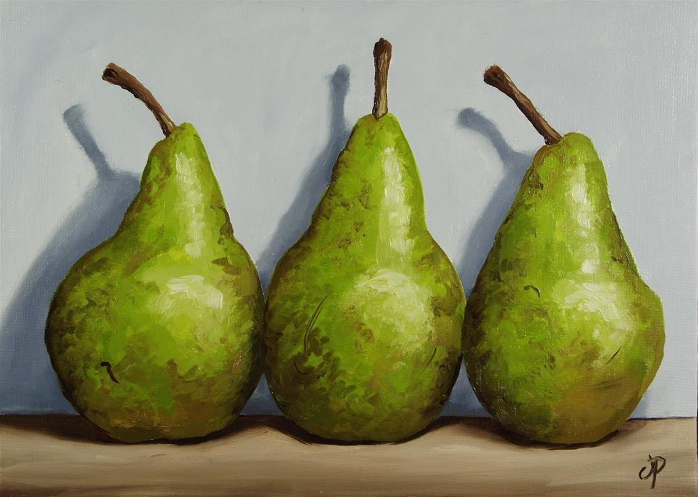 """Conference Pears"" original fine art by Jane Palmer"