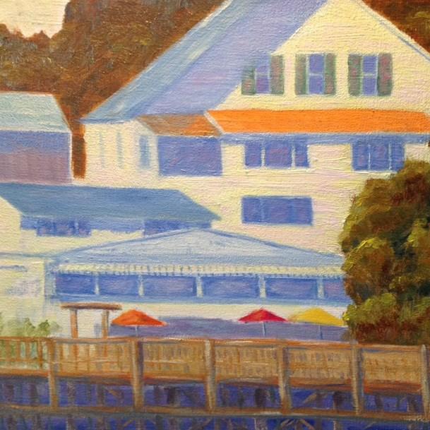 """Boothbay Harbor Footbridge"" original fine art by Judith McKenna"