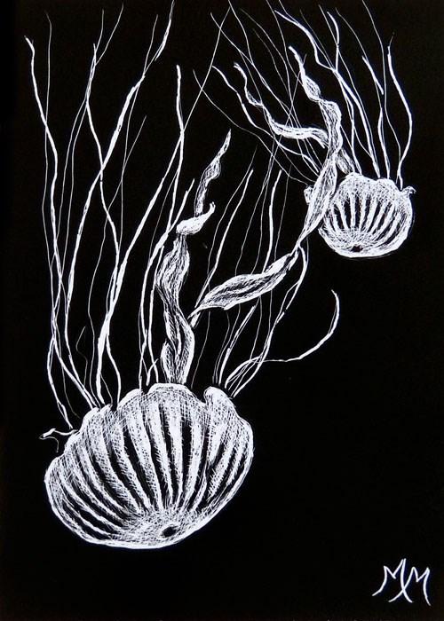 """Jellies"" original fine art by Monique Morin Matson"