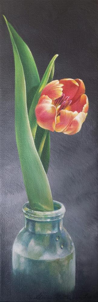 """""""Spring in a Bottle"""" original fine art by Elaine Guitar van Loo"""