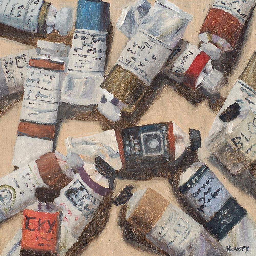 """Oil Paints"" original fine art by Bruce Housey"