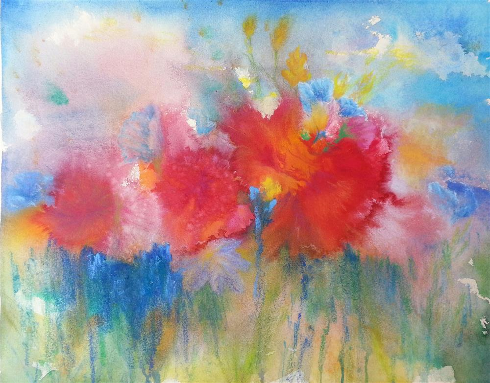 """Very Loosely Spring"" original fine art by Becky Chappell"