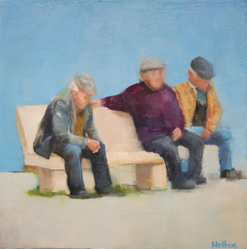 """Three's a Crowd"" original fine art by Cathy Holtom"