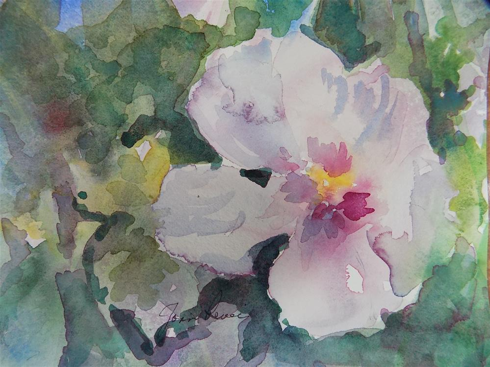 """Hibiscus #2"" original fine art by Joan Reive"