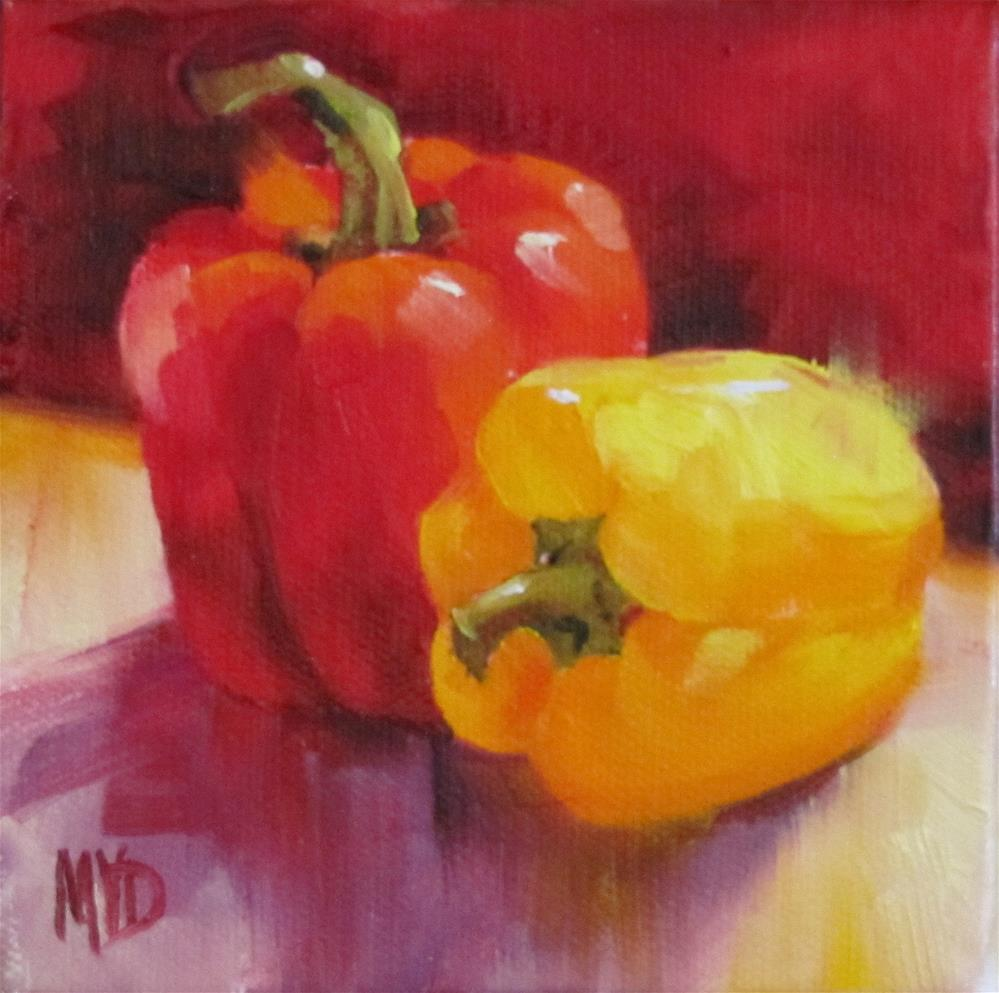 """Pair of Peppers"" original fine art by Mary  Van Deman"