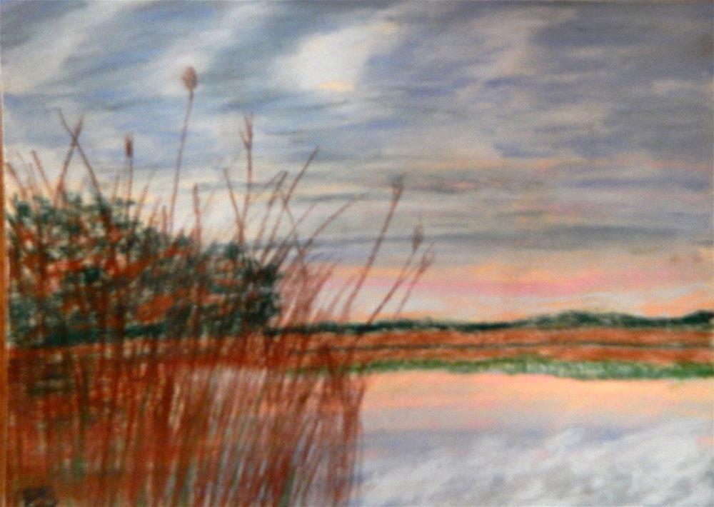 """Storm Clouds Over Kingston Landing"" original fine art by Elaine Shortall"