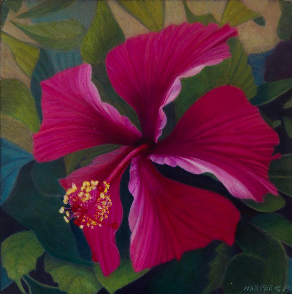 """The Hibiscus"" original fine art by Nelia Harper"