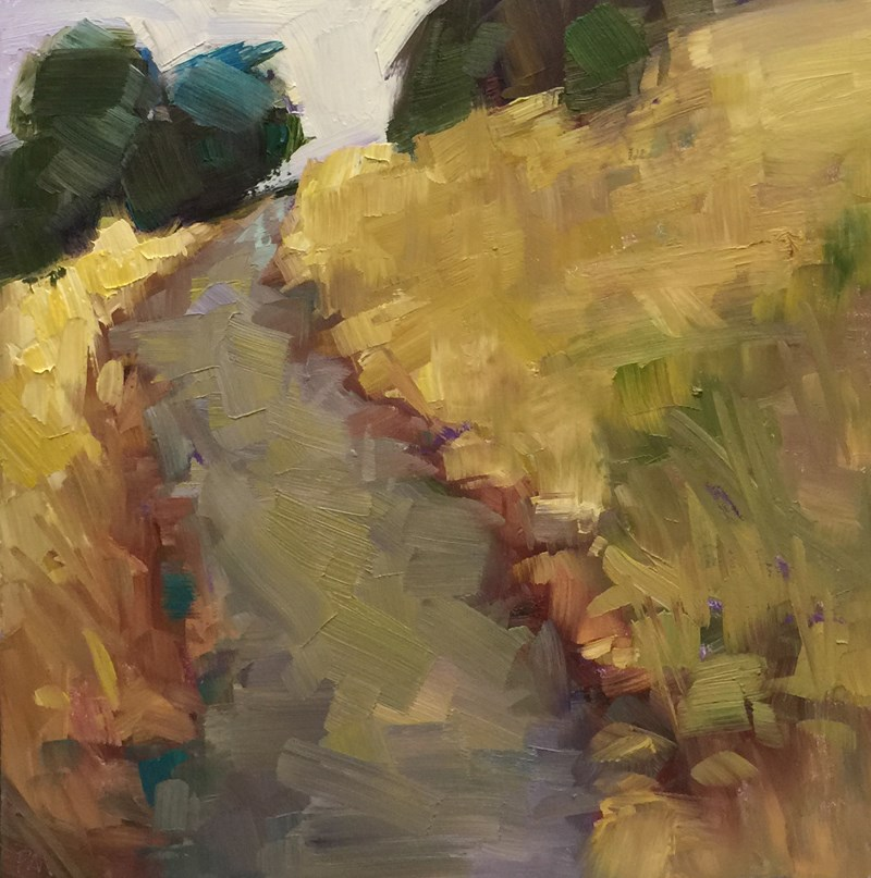 """Theo's Trail in the Fall"" original fine art by Patti McNutt"