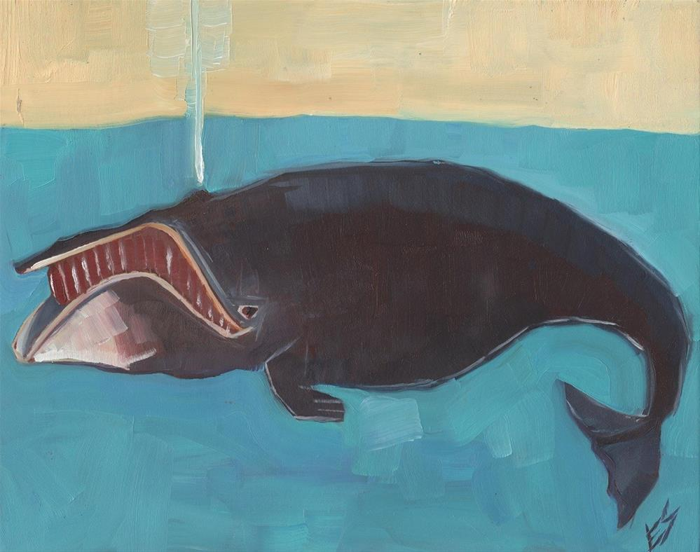 """Another Big Old Whale"" original fine art by Elizabeth See"