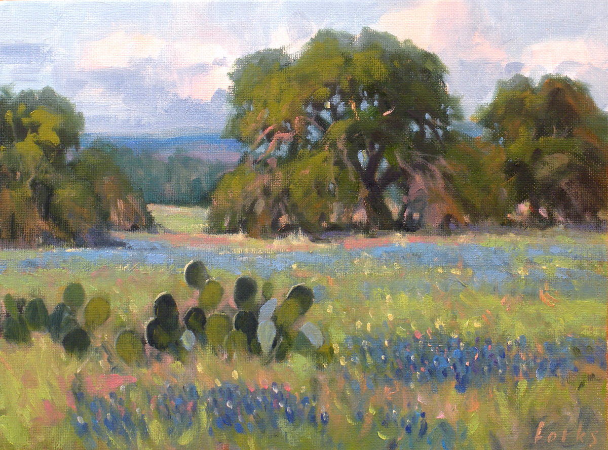 """North of San Antonio"" original fine art by David Forks"