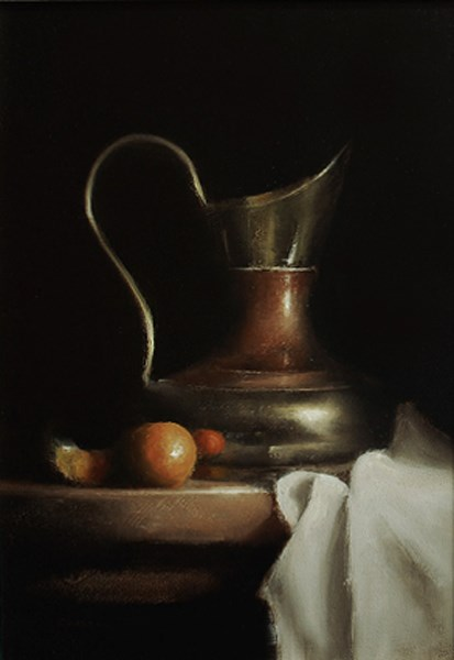 """Brass and Copper Jug"" original fine art by Neil Carroll"