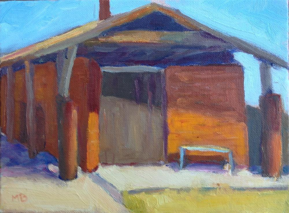 """Old Depot at China Camp"" original fine art by Marcia Bergtholdt"