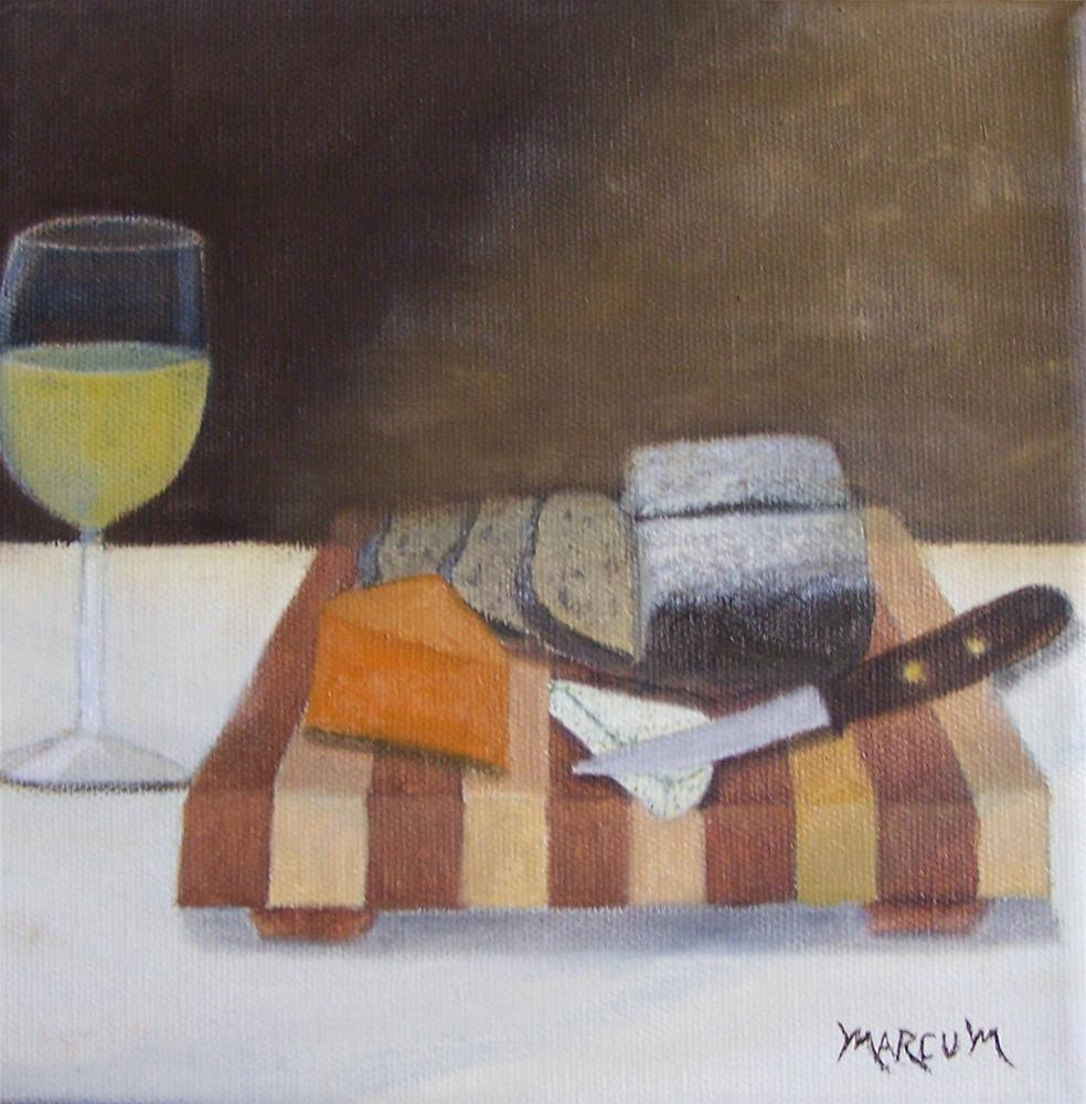 """Bread Wine and Cheese"" original fine art by John Marcum"