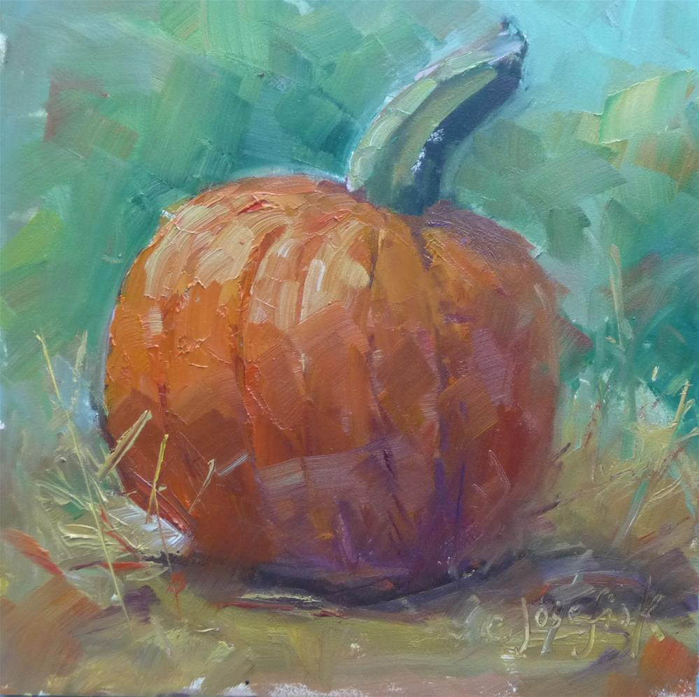 """Big Orange"" original fine art by Carol Josefiak"